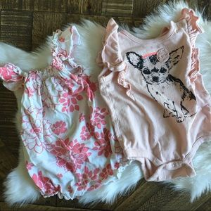 GAP Chihuahua Bodysuit and Old Navy Romper